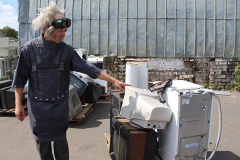 """Юнкоры """"Зорьки"""" сыграли в гигантский тетрис: вместо """"деталек"""" были холодильники и стиральные машины!"""