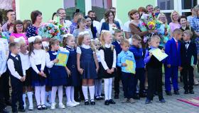 Першакласнікі Гераненскай школы Іўеўскага раёна
