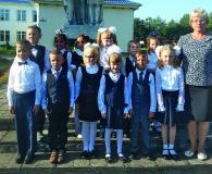 Первоклассники Мижевичской школы Слонимского района