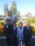 Первоклассники Прозорокской детского сада–средней школы имени И. Т. Буйницкого Глубокского района