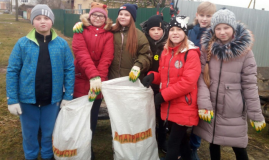 Патриотическо-экологическая акция в Споровской школе