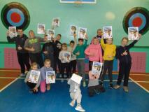 """Представляем вам очень спортивных учеников из Петревичей (и бонусное поздравление """"Зорюшке""""!)"""