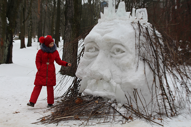 чудеса из снега