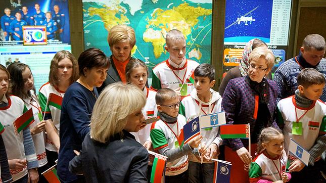 Белорусские школьники позвонили в космос