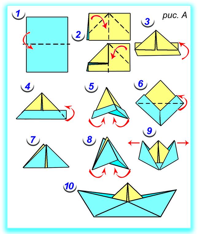 Как сделать кораблики из простой бумаги 656