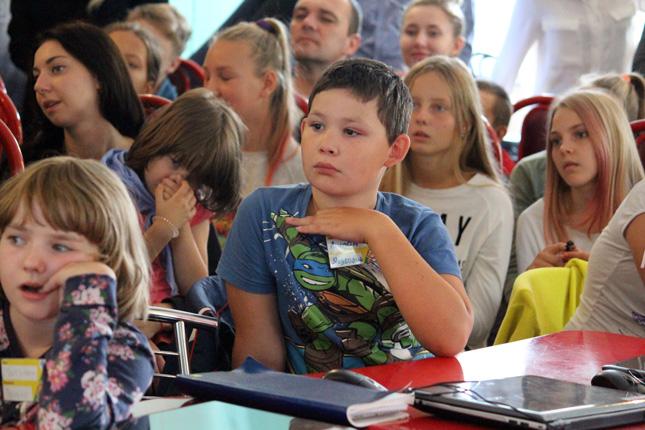 Во время презентации проектов