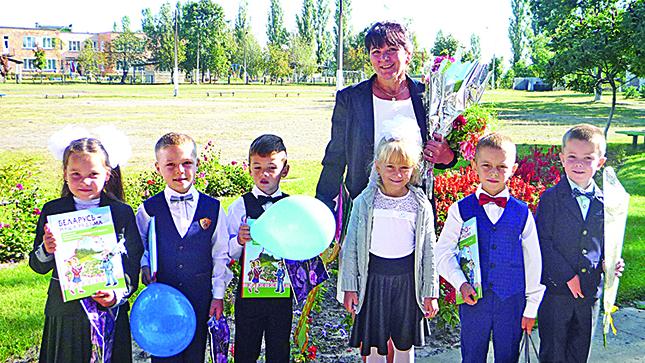 Первоклассники Межлесской школы