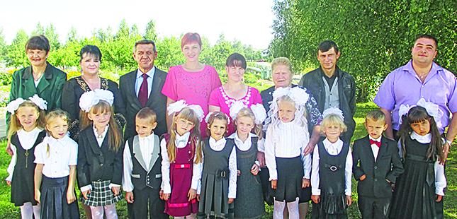 Первоклассники Рязанцевской школы