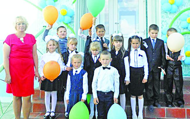 Первоклассники Холмечской школы