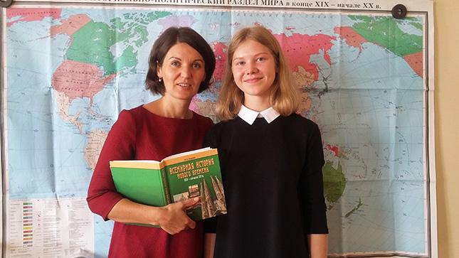 С любимой учительницей