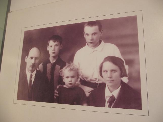 Фото семьи Коласа в музее