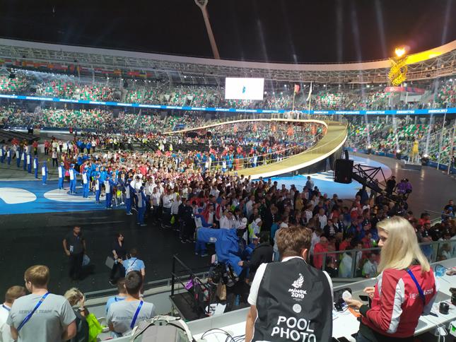 церемония октрытия Европейских игр